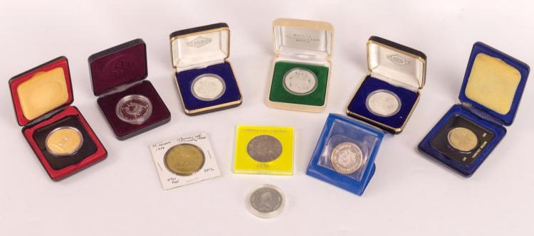 10 Pc. Silver World Coin / Token Collection