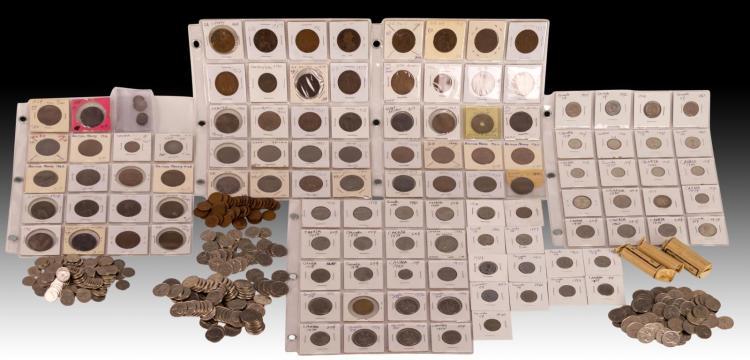 Canadian & Great Britian Coin & Gambling Token Lot