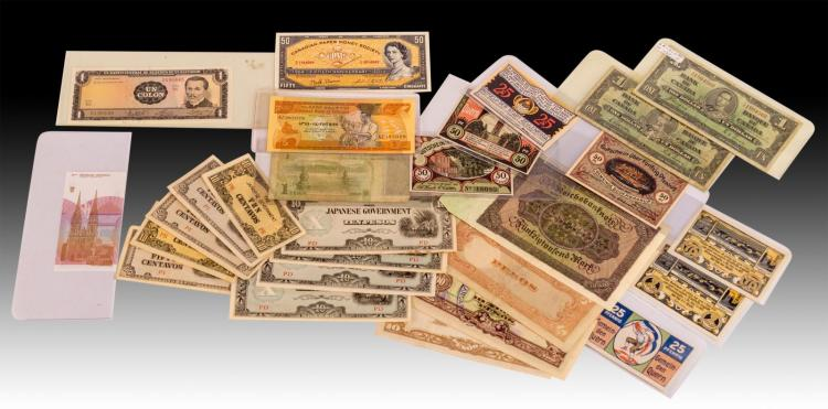 28 Pc. World Paper Currency Collection