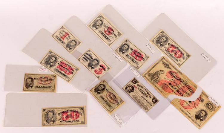 11 Pc. Eastman College Bank Note Lot