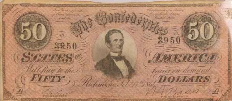 Confederate $50 Bill