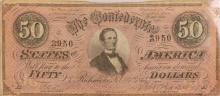 Confederate $50 Bill