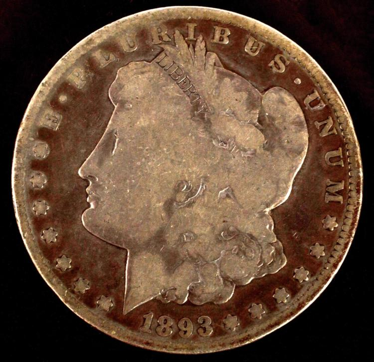 1893 CC Morgan Silver Dollar