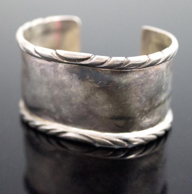 Navajo Tk Emerson Native American Silver Cuff
