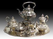 Ernst Menner Stuttgart Sterling Silver Tea Set