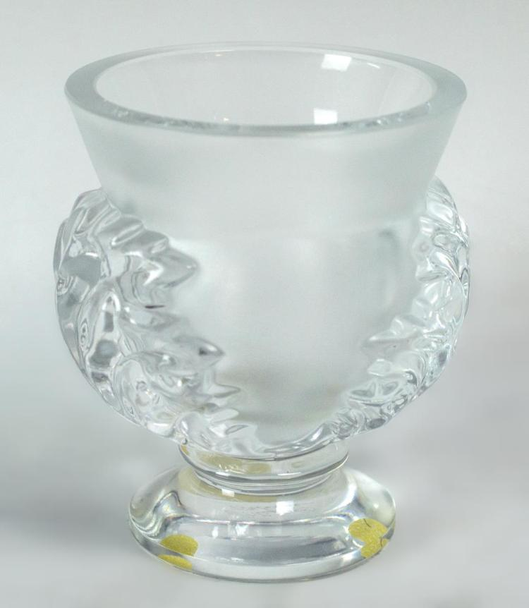 Lalique St. Cloud Frosted & Clear Crystal Vase