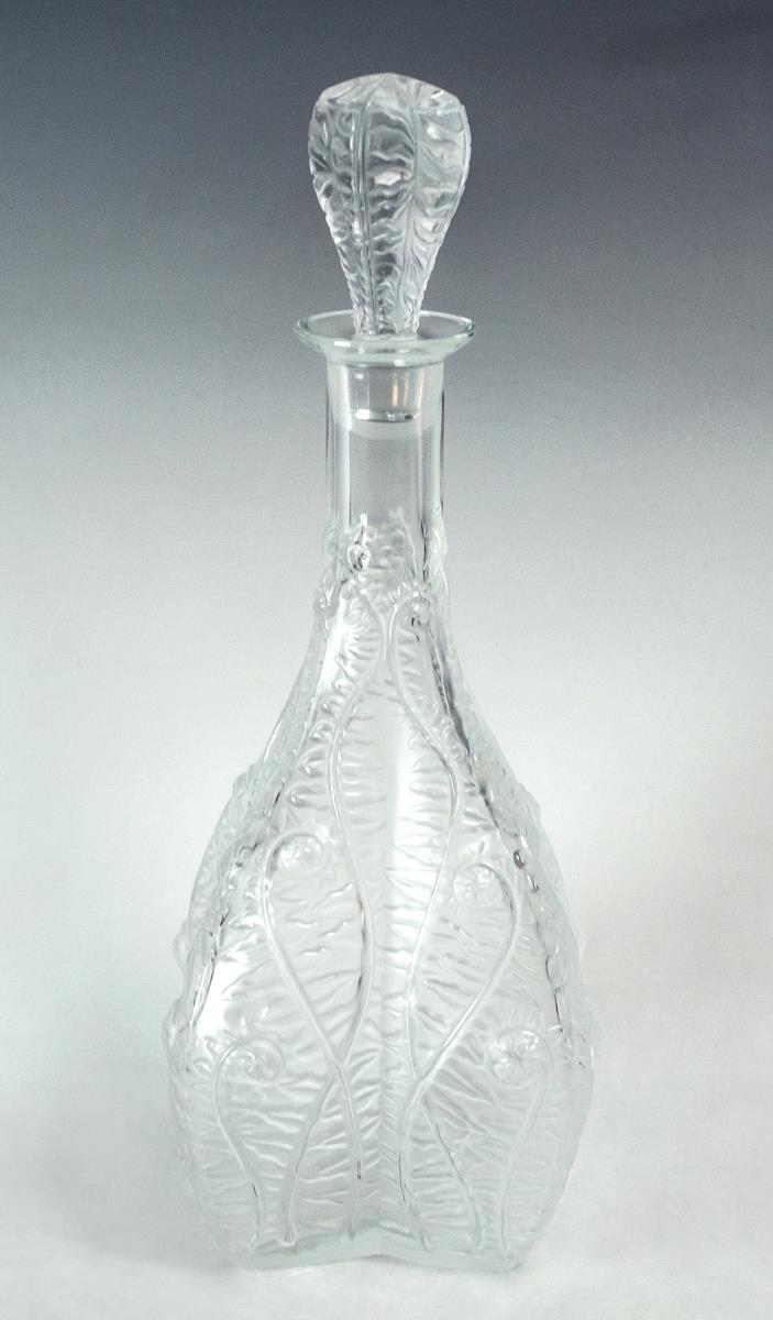 Lalique Crystal Decanter Vine Pattern
