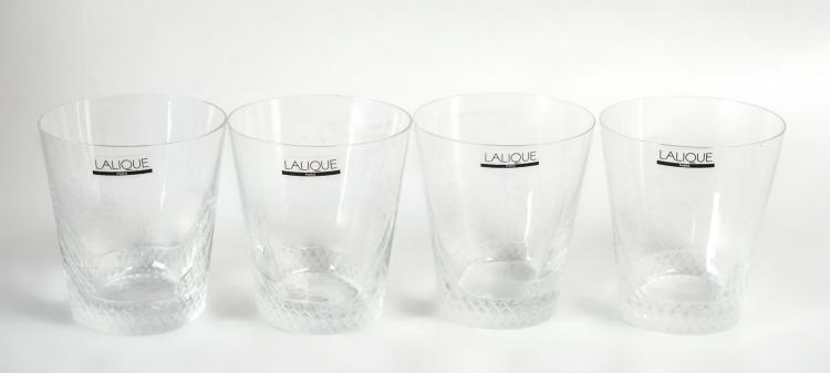 4Pc. Lalique French Crystal Glasses