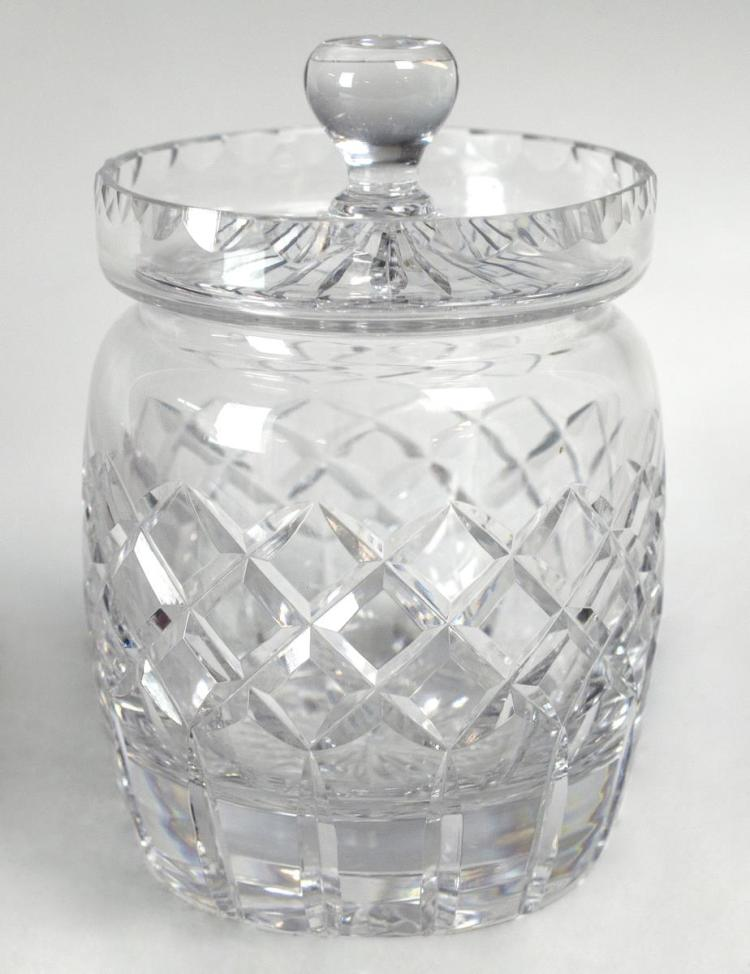 Cartier Crystal Biscuit Jar, Pinwheel Cut