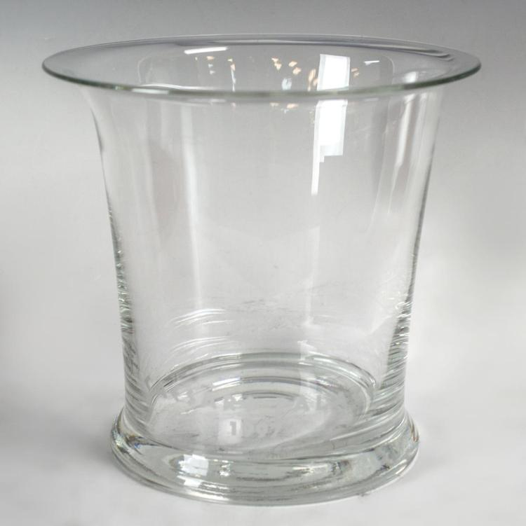 Cartier Crystal Hurricane Vase, Marked