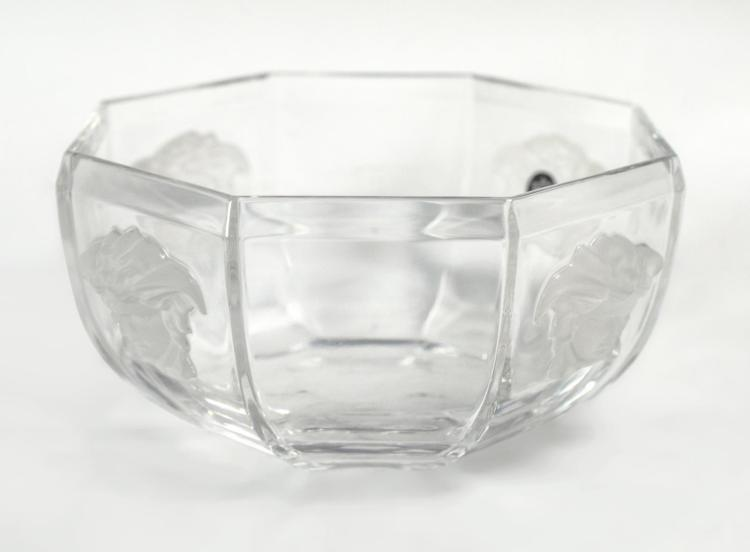 Versace by Rosenthal Lead Crystal Medusa Bowl