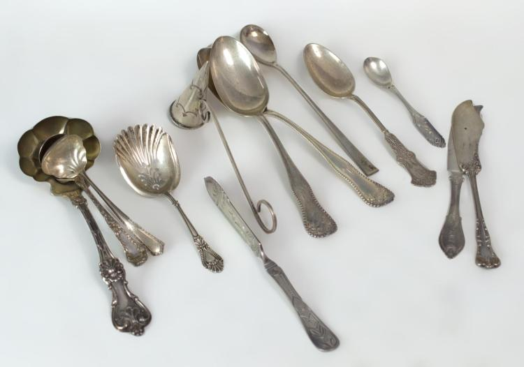 13Pc. Sterling Silver Serving Flatware