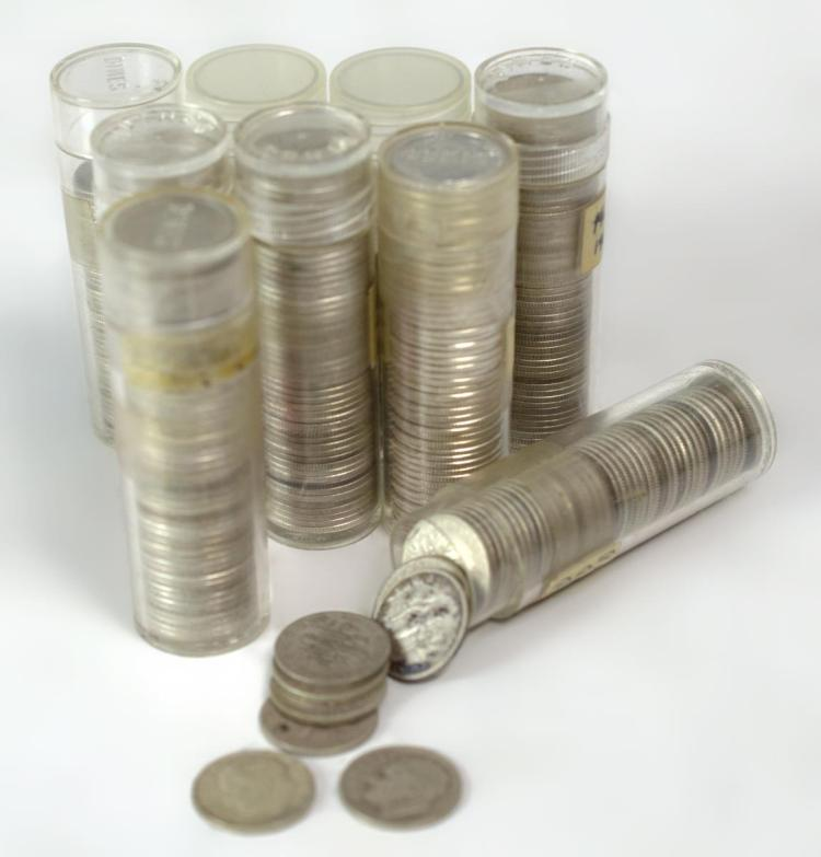 407Pc. U.S. Coins Roosevelt Silver Dimes 1946-1961