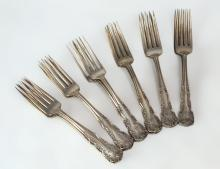 12Pc. Simpson, Hall, Miller Sterling Silver Forks