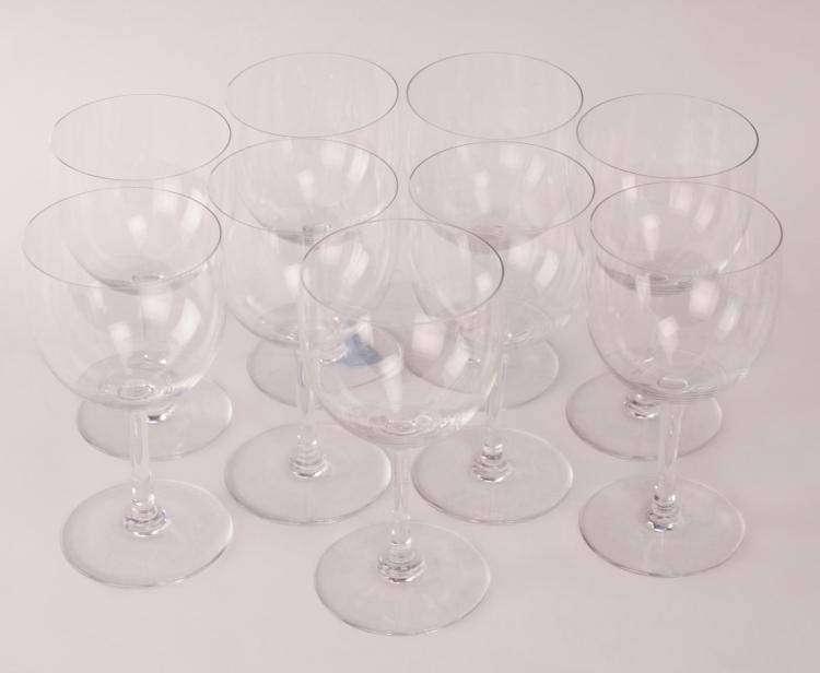 9pc Baccarat Crystal Montaigne 6.5