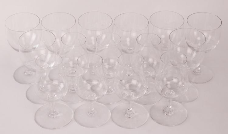 15Pc Baccarat Crystal Sherry/Cordial Glasses