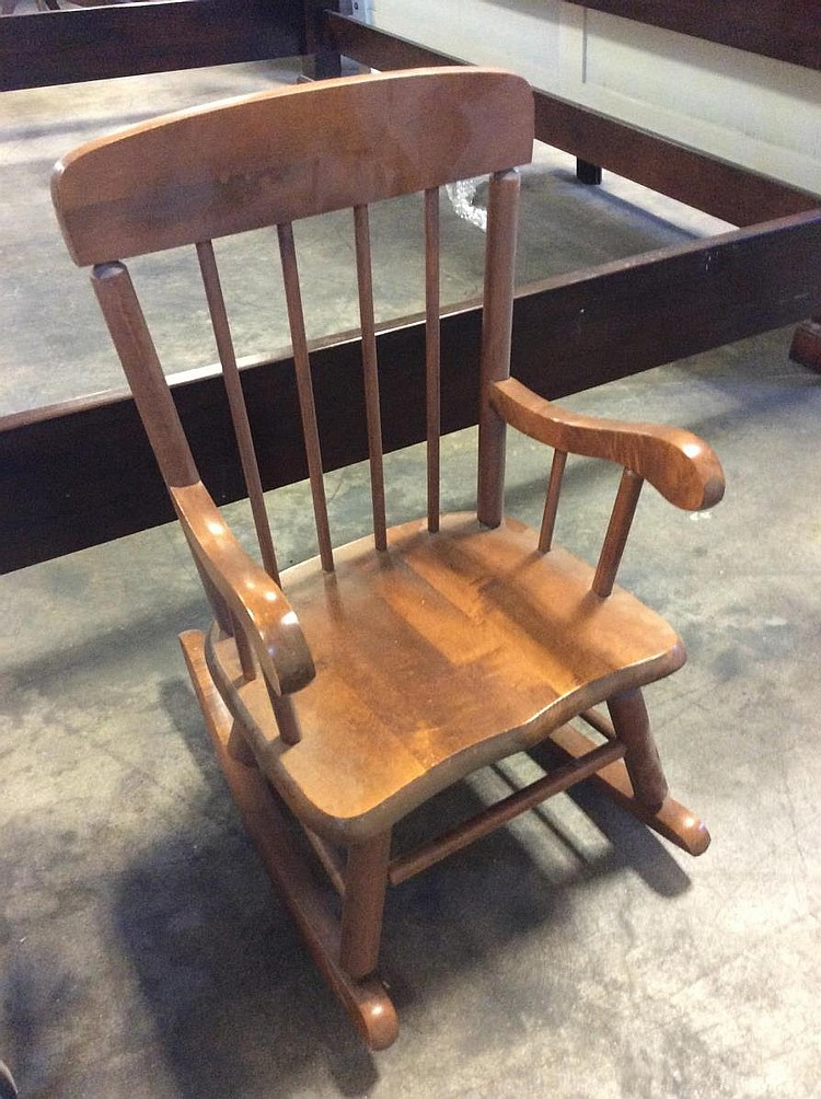 Lot 1748: Wooden Child Rocking Chair
