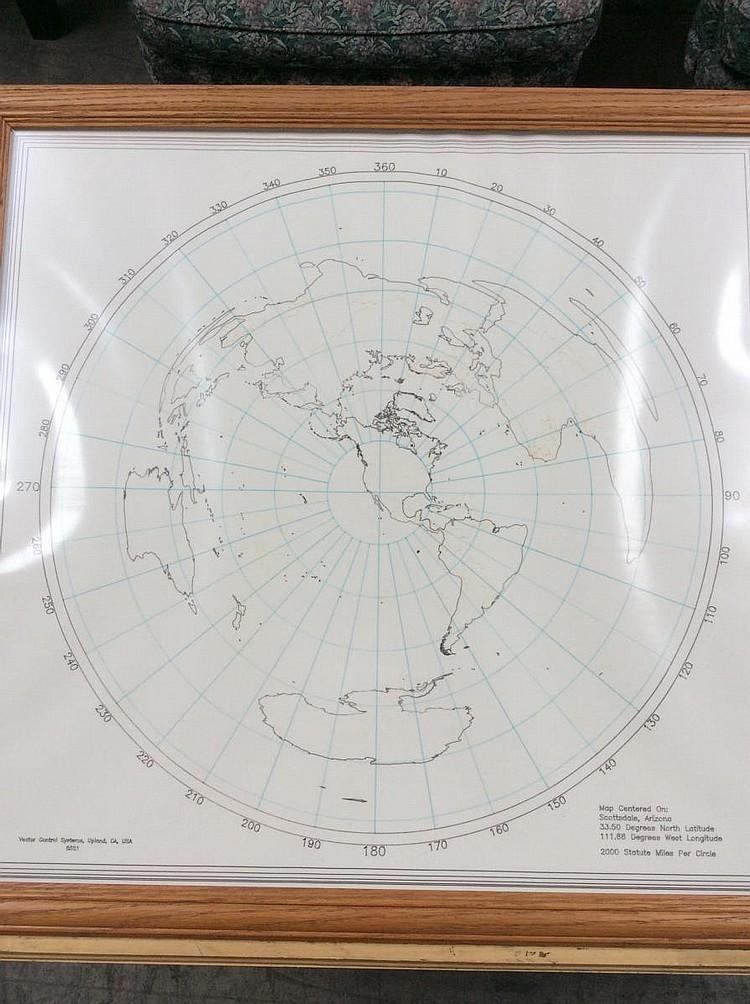 Framed Map of the World