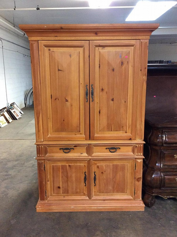 Unfinished Wood Armoire ~ Thomasville solid wood armoire