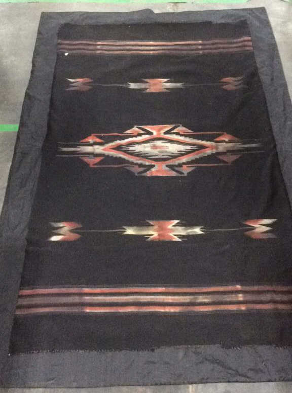 native american style area rug w backing. Black Bedroom Furniture Sets. Home Design Ideas