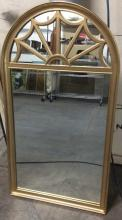 Gilt Painted Arching Mirror