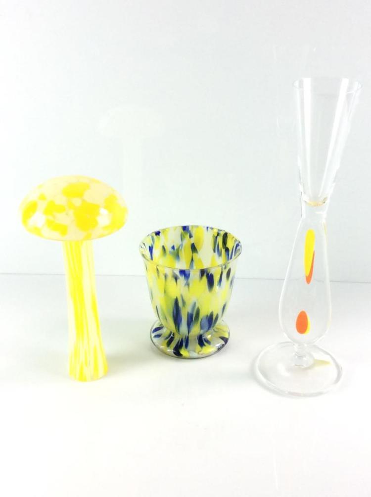 3pc art glass vases decor for Phoenix glass decorating co