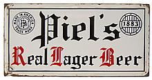 Piel's Porcelain Real Lager Beer Sign
