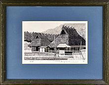 Ryohei Tanaka (b.1933) Asian Etching, #116/ 150