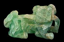 Carved Crystal Foo Dog
