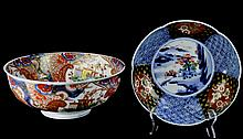 PAIR Antique Porcelain Imari Bowl Lot