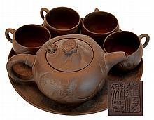 Asian Foo Dog Tea Set