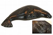 Inuit Carved Stone Seal Figurine c. 1986