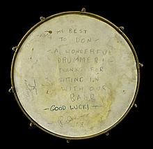 Ludwig Drum Signed Presentation by Ralph Flanagan