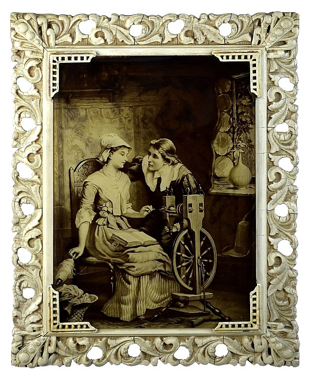 John & Priscilla Alden Print, The Courtship