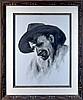 Jimmy Abeita Acrylic Painting, Portrait of Man, Jim Abeita, Click for value