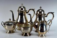 5Pcs. Frank M. Whiting Company Sterling Tea Set