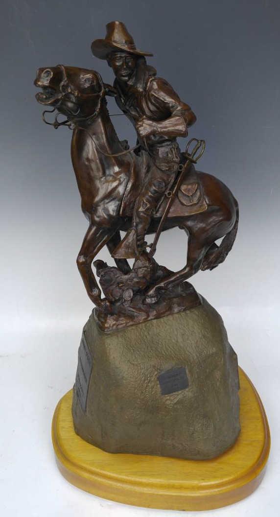 Jack Osmer Bucky O'neil Roughrider Bronze