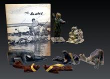 Inuit Northwest Coast Carved Figures & Polar Bears