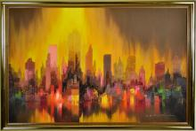 Heinz Ludwig Munnich, Cityscape Oil Painting