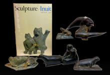 Inuit Northwest Coast Carved Stone Figures & Seals