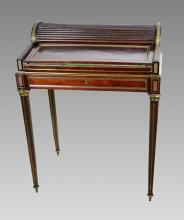 French Napoleon III Tambour Top Desk with Ormolu