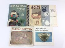5Pc. Native American Pottery & Kachina Books