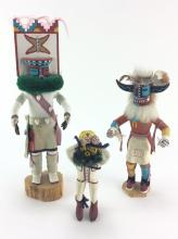3Pc. Native American Kachinas