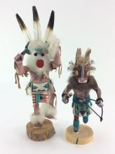 2Pc. Native American Kachinas