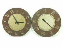2pc. Rustic Patio Clock & Thermometer