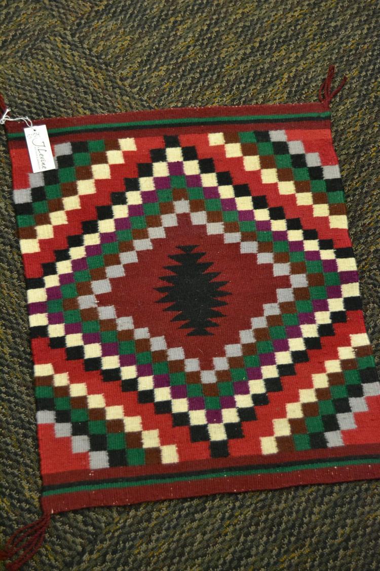 Vintage Navajo Hand Woven Wool Sample Rug