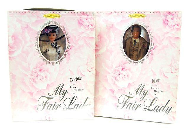 Lot of 2 Mattel My Fair Lady Barbie Dolls NIB