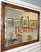 Vintage Dewar's Mirrored Advertising Sign