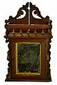 Antique Victorian Wall Cabinet, Mirrored Door