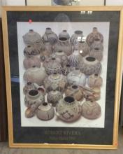 3Pc. Signed Umber Urn Panel & Gourd Poster